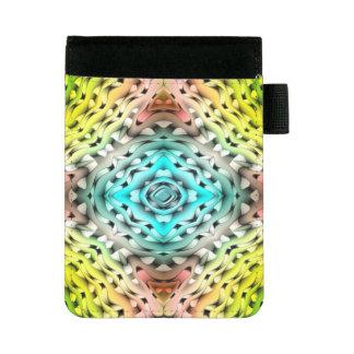 Mini Padfolio Arrière - plan bleu-clair et rose vert abstrait