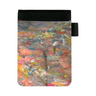 Mini Padfolio Limande de peinture d'art abstrait colorée