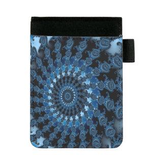 Mini Padfolio Motif bleu abstrait de glace