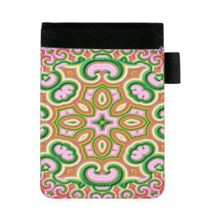 Mini Padfolio Rose abstrait et vert d'art de fractale