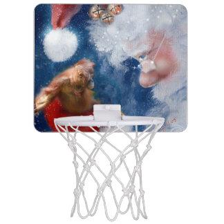 Mini-panier De Basket Amoureux des animaux du père noël
