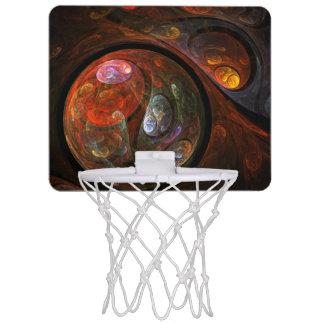 Mini-panier De Basket Art abstrait de connexion liquide