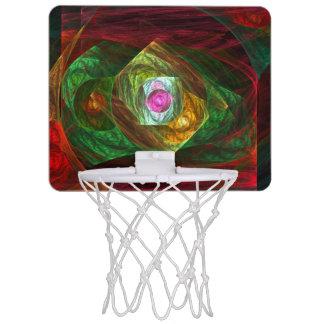 Mini-panier De Basket Art abstrait de connexions dynamiques