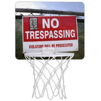 Mini-panier De Basket AUCUN signe de INFRACTION et…