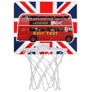 Mini-panier De Basket Autobus à impériale rouge de Londres