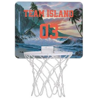 Mini-panier De Basket Cercle de basket-ball d'île d'équipe mini