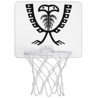 Mini-panier De Basket Deux ont dirigé Eagle noir