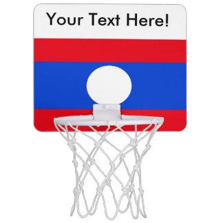 Mini-panier De Basket Drapeau des Laotiens
