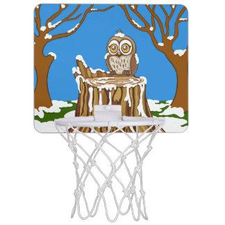 Mini-panier De Basket Flocon de neige le hibou