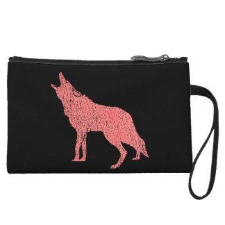Mini-pochette coyote de loup d'hurlement