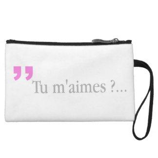 Mini-pochette LE TU M'AIMES ? Embrayage français de question