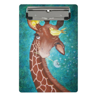 Mini Porte-bloc Girafe mignonne avec la peinture d'oiseaux