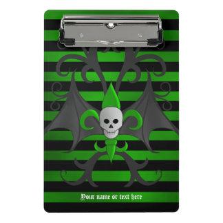 Mini Porte-bloc Noir et vert de crâne de Halloween