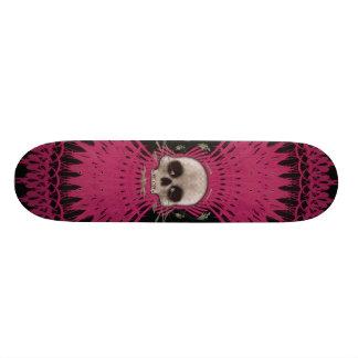 Mini Skateboard 18,4 Cm Conception tribale de fractale de crâne gothique :
