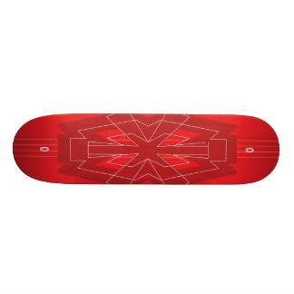 Mini Skateboard 18,4 Cm Planche à roulettes de rouge d'astérisque