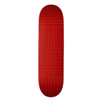 Mini Skateboard 18,4 Cm Rayures rouges d'Ombre