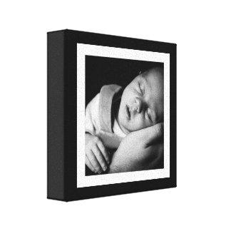 Mini toile de bébé noir et blanc audacieux toiles
