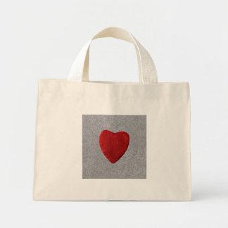 Mini Tote Bag Arrière-plan d'ardoise coeur
