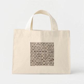 Mini Tote Bag Arrière-plan de matière