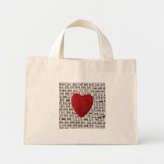 Mini Tote Bag Arrière-plan de matière coeur