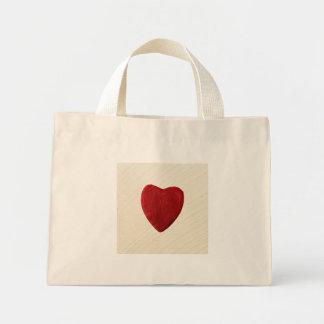 Mini Tote Bag Arrière-plan ébarber coeur