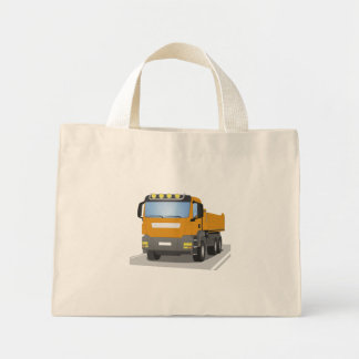 Mini Tote Bag chantiers camion oranges