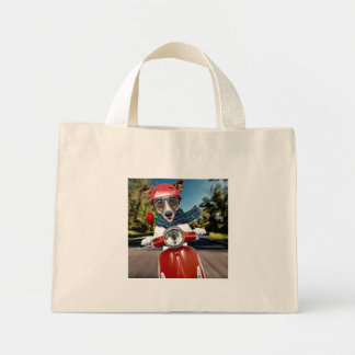 Mini Tote Bag Chien de scooter, cric Russell