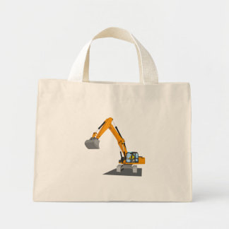 Mini Tote Bag excavatrice de chaîne orange