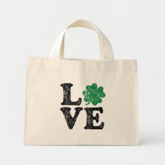 Mini Tote Bag Irlandais de shamrock d'AMOUR du jour de St