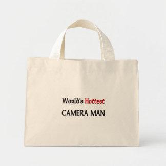 Mini Tote Bag L'homme d'appareil-photo le plus chaud des mondes