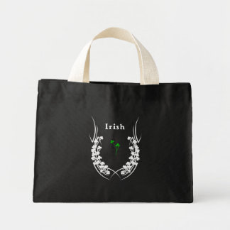 Mini Tote Bag Tatouage irlandais de shamrock