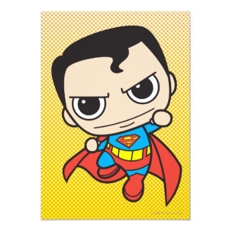 Mini voler de Superman Carton D'invitation 12,7 Cm X 17,78 Cm