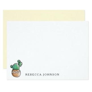 Minimal rustique de cactus succulent carton d'invitation 8,89 cm x 12,70 cm