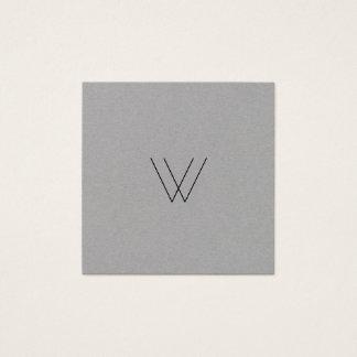 Minimaliste moderne de logo carte de visite carré