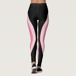 Minimaliste noir rose du dessin géométrique | leggings