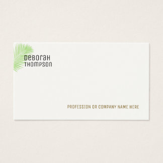 minimalistisch elegant palmblad visitekaartjes
