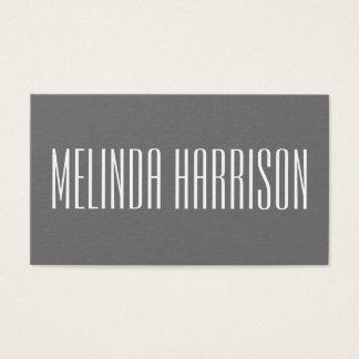 Minimalistisch modern gewaagd grijs visitekaartje visitekaartjes