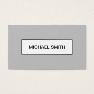 Minimalistisch modern professioneel grijs visitekaartjes
