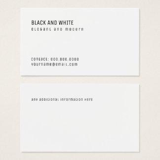 minimalistisch visitekaartjes