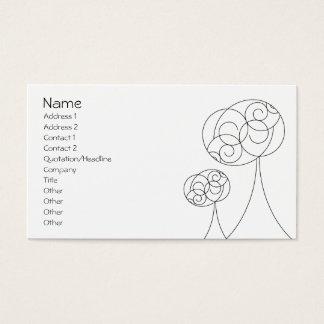 Minimalistische Bomen Visitekaartjes