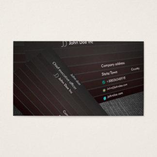 Minimalistische kaart visitekaartjes