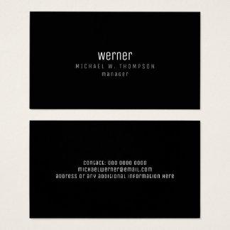 minimalistische professionele elegante visitekaartjes