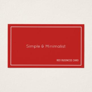 Minimalistische rode kleur visitekaartjes