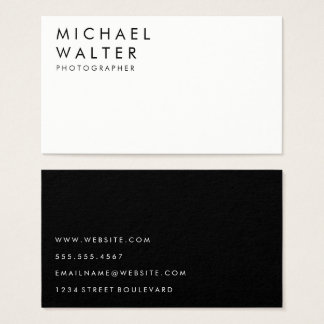 Minimalistische Wit en Zwart Visitekaartjes