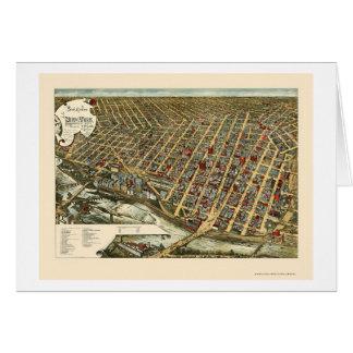 Minneapolis, carte panoramique de manganèse - 1891