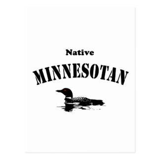 Minnesotan indigène carte postale