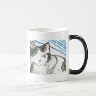 Minou noir et blanc mug magic