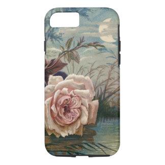 Minuit vintage rose et lune coque iPhone 7