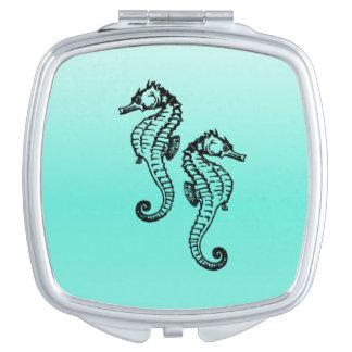 Miroir Compact Aqua d'hippocampes