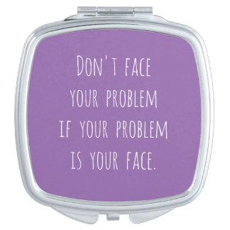 Miroir compact carré de Lol